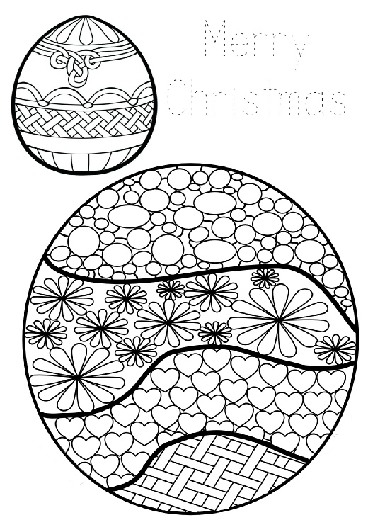 Christmas Baubles to download and save, colour in and cutout, stick to cardboard and hang on the tree!
